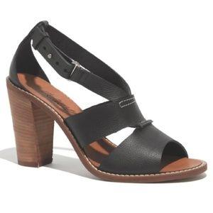 Madewell Beckett Heeled Sandal 6.5 Black